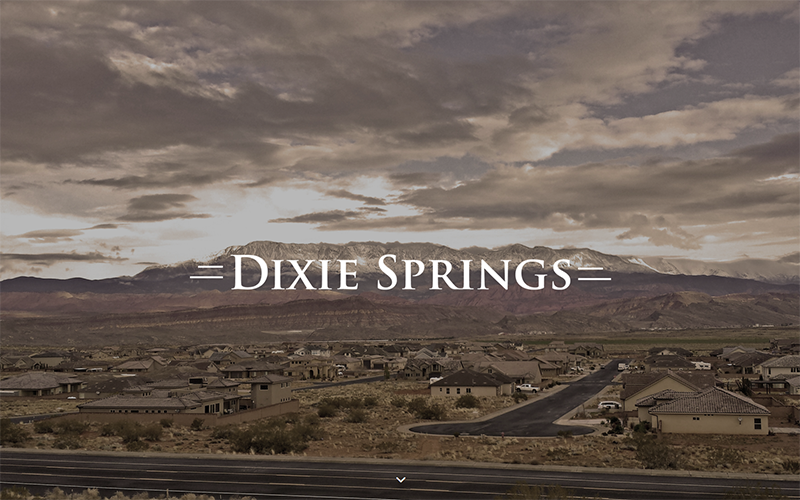 full page header at Dixie Springs homepage