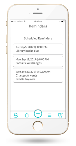 List Tracker reminders